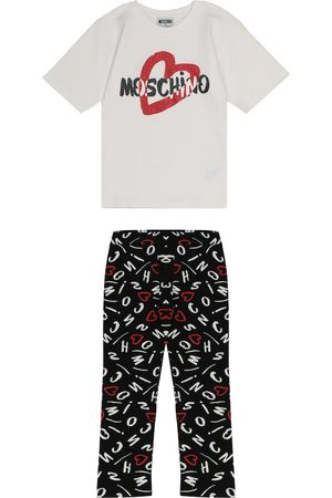 Moschino Stretch-cotton T-shirt and leggings set