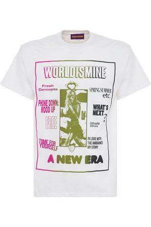 WORLD IS MINE Miehet T-paidat - A New Era Printed Cotton T-shirt