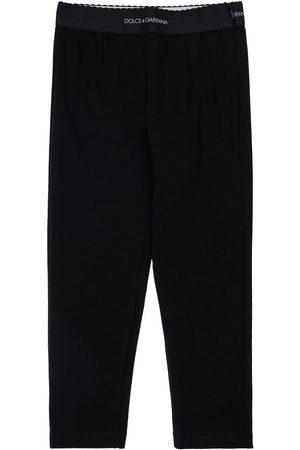 Dolce & Gabbana Tytöt Leggingsit - Cotton Blend Interlock Leggings