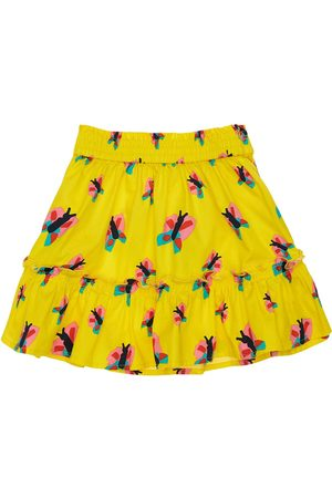 Stella McCartney Tytöt Printtihameet - Butterfly Print Organic Cotton Skirt