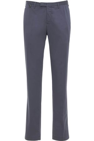 Pantaloni Torino Miehet Kapeat - Slim Wedge Stretch Cotton & Silk Pants