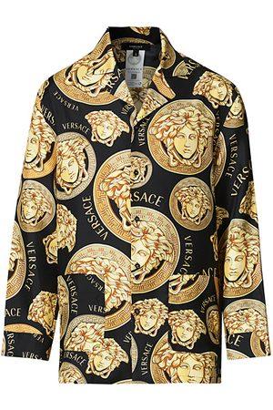 VERSACE Miehet Kauluspaidat - Medusa Silk Shirt Black/Gold