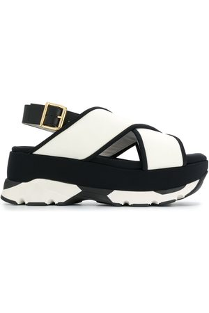 Marni Platform cross strap sandals