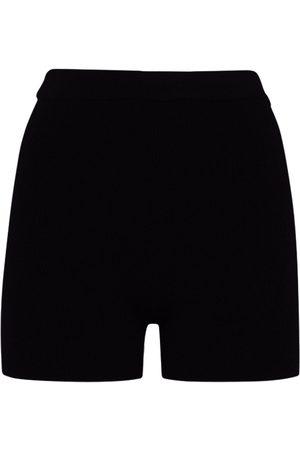 Jacquemus Viscose Blend Rib Knit Cycling Shorts