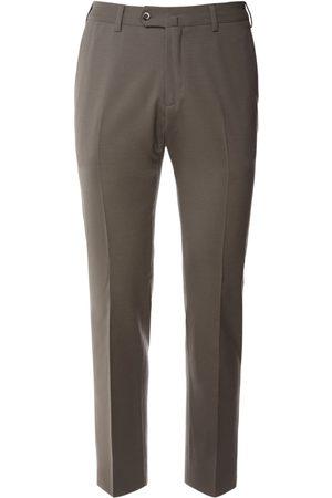 Loro Piana 18cm Flat Slim Wool Bistretch Pants