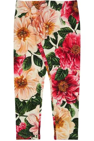 Dolce & Gabbana Printed Cotton Interlock Pants