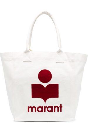 Isabel Marant Naiset Ostoskassit - Flocked-logo cotton tote bag