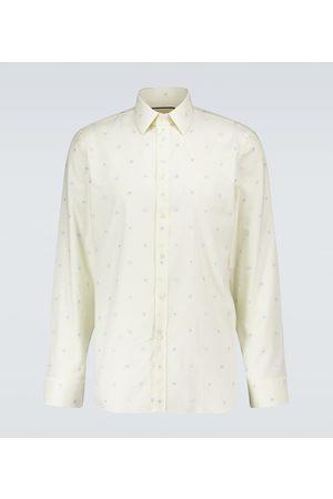 Gucci Miehet Bisnes - Symbols fil coupé Oxford shirt