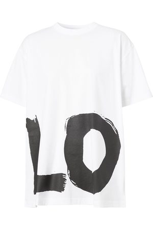 Burberry Love print oversized T-shirt