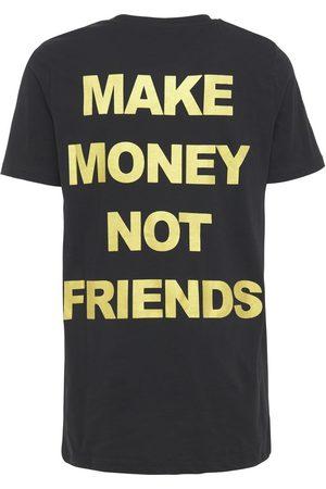 MAKE MONEY NOT FRIENDS Miehet T-paidat - Logo Print Cotton Jersey T-shirt