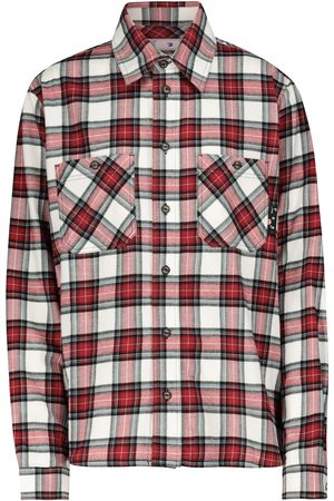 OFF-WHITE Checked cotton flannel shirt