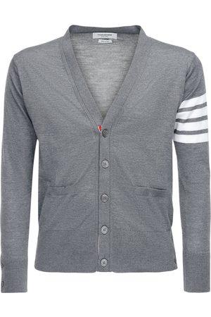 Thom Browne Intarsia Stripes Merino Wool Cardigan