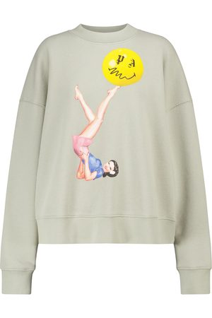 Palm Angels Printed cotton jersey sweatshirt