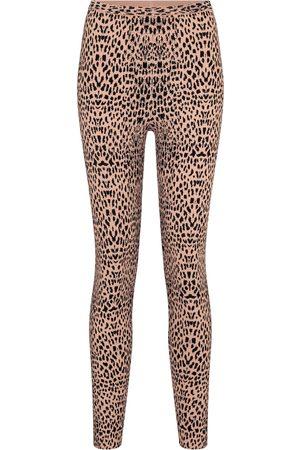 Alaïa Leopard-jacquard mid-rise leggings