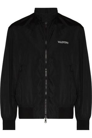 VALENTINO Logo-print zip-up bomber jacket