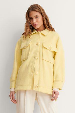 MANGO Naiset Päällystakit - Takki - Yellow