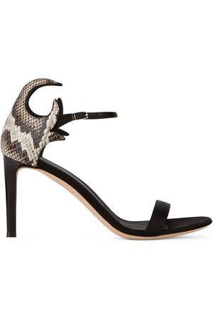 Giuseppe Zanotti Naiset Sandaletit - Snake counter-heel sandals
