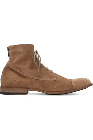 Pantanetti Miehet Nauhalliset saappaat - 25mm Suede Zip Ankle Lace-up Boots