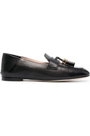 Stuart Weitzman Wylie tassel-embellished leather loafers