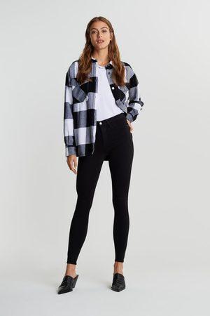 Gina Tricot Naiset Korkeavyötäröiset - Molly TALL high w jeans