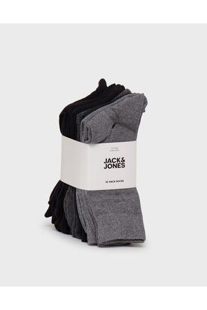 Jack & Jones Jacjens Sock 10 Pack Noos Strumpor Dark Grey Melange Dgm - Lgm - Lgm - Blac