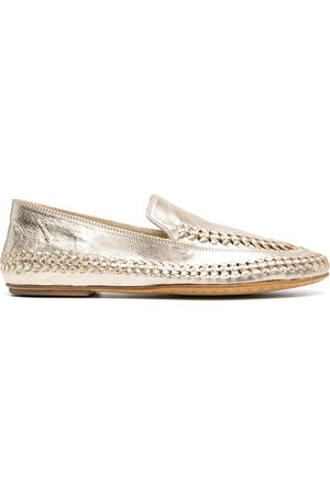 Officine creative Naiset Loaferit - Metallic-effect loafers
