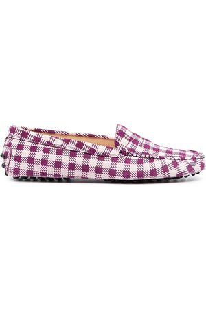 Tod's Naiset Loaferit - Gingham-print loafers