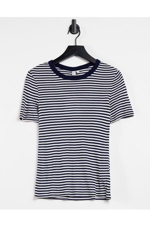 & OTHER STORIES Naiset T-paidat - Eco stripe t-shirt in navy and white-Multi