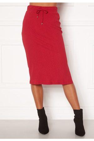 Happy Holly Emilia midi skirt Dark red 48/50