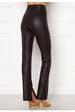 BUBBLEROOM Iza PU slit leggings Black M