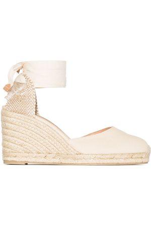Castaner Naiset Sandaletit - Carina 80mm ankle-tie wedge sandals