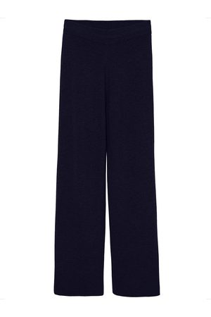 The Frankie Shop Rib Knit Lounge Wool Blend Pants