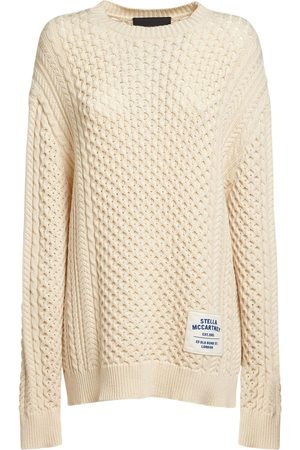 Stella McCartney Patch Logo Cotton Blend Knit Sweater