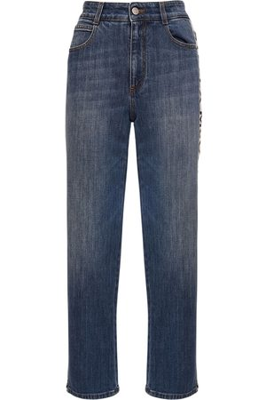 Stella McCartney Cropped Eco Denim Straight Jeans
