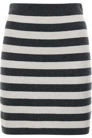Kenzo Naiset Minihameet - Striped Wool Blend Knit Mini Skirt