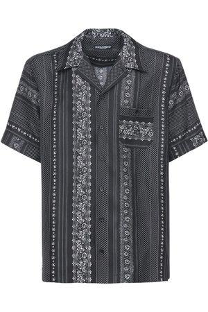 Dolce & Gabbana Miehet Paidat - Geometric Print Silk Bowling Shirt