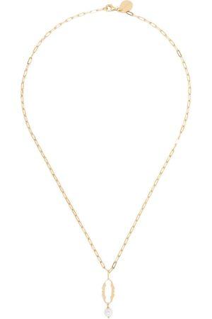 Simone Rocha Naiset Kaulakorut - Pearl-embellished 0 letter necklace