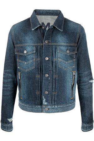 Balmain Miehet Farkkutakit - Distressed-effect denim jacket