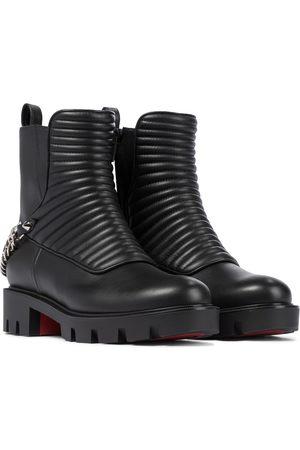 Christian Louboutin Naiset Nilkkurit - Maddic Max leather combat boots