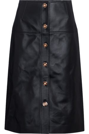 GABRIELA HEARST Naiset Nahkahameet - Anna leather midi skirt