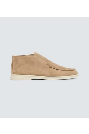 Loro Piana Open Walk suede ankle boots