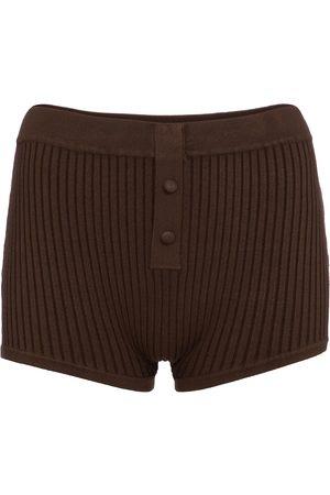 LIVE THE PROCESS Naiset Shortsit - Ribbed-knit shorts