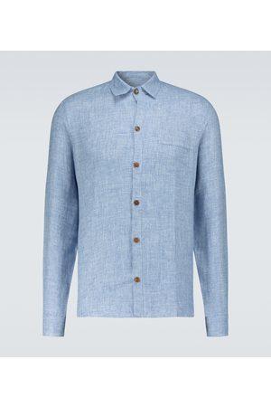 King and Tuckfield Linen pocket shirt
