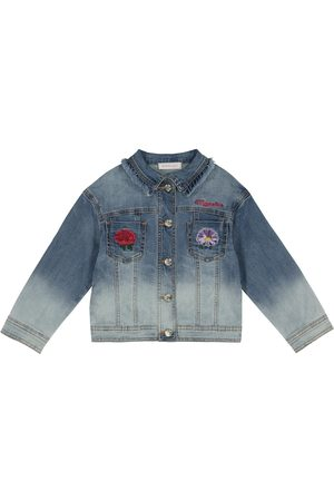 MONNALISA Tytöt Farkkutakit - Embroidered denim jacket