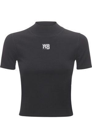 Alexander Wang Logo Patch Stretch Jersey T-shirt