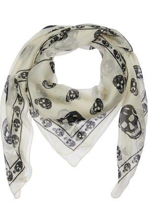 Alexander McQueen Miehet Huivit - Skull Print Silk Scarf