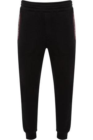 Alexander McQueen Miehet Collegehousut - Logo Tape Cotton Sweatpants