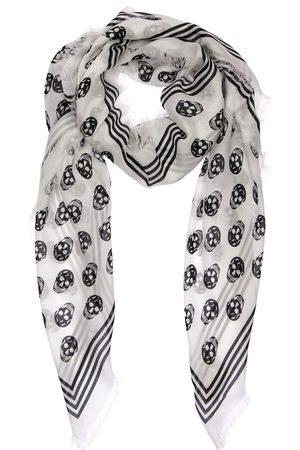 Alexander McQueen Skull Print Modal Scarf