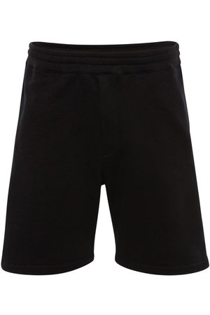 Alexander McQueen Logo Tape Cotton Sweat Shorts