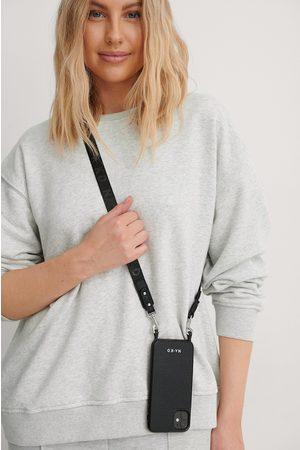 NA-KD Naiset Puhelinkuoret - Logo Strap Phone Case - Black